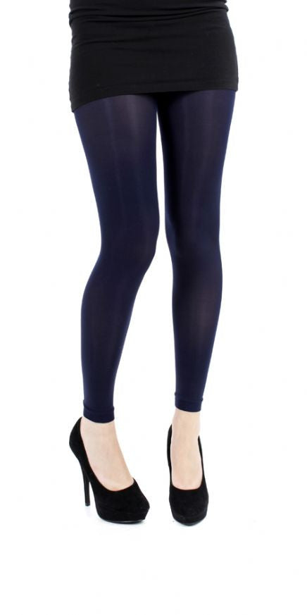 fdf819d370d2e Navy solid colour 80 denier footless Tights by Pamela Mann UK on Tights Etc  South Africa