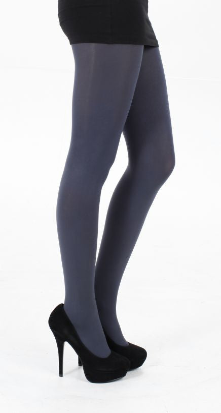 Slate solid colour 80 denier Tights by Pamela Mann UK on Tights Etc South Africa