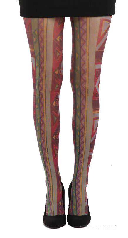 Aztec Ethnic Printed Tights by Pamela Mann UK tights etc South Africa