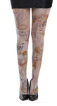 Aztec Flower Printed Tights by Pamela Mann UK tights etc South Africa