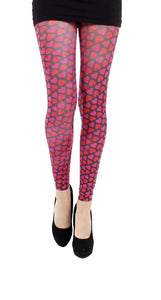 Candy Heart Pink Footless Printed Tights by Pamela Mann UK on Tights Etc South Africa