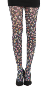 Ditsy floral Multi Colour printed tights by pamela mann uk on Tights Etc South Africa