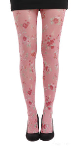 Ditsy floral pink printed tights by pamela mann uk on Tights Etc South Africa