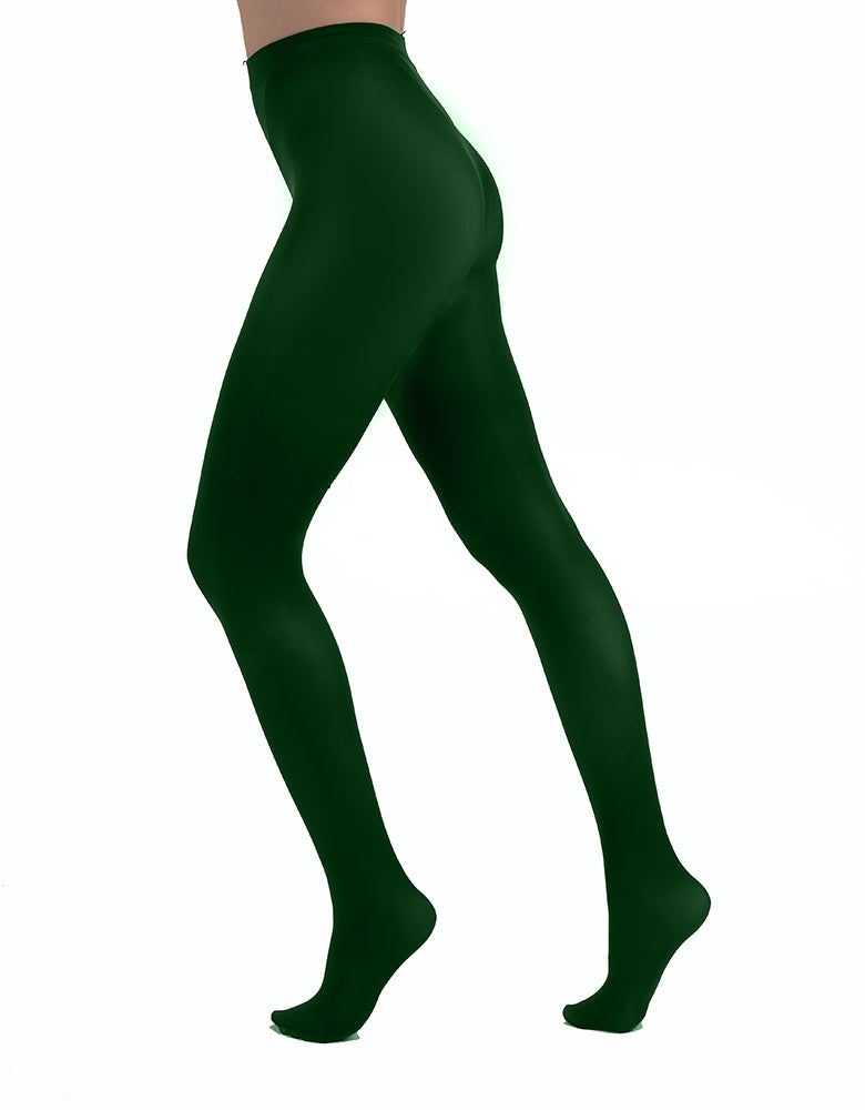 Forest Green tights 80 denier Opaque tights thick leg coveradge in dashionable colors by pamela mann Uk on Tights Etc South Africa