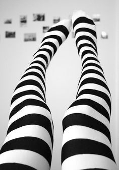 Twicker White bumble bee Tights in black and white stripes by Pamela Mann UK on Tights etc South Africa