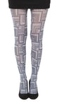 Zig Zap square waves pattern in Black and White Oaxaca Tights by Pamela Mann UK on Tights Etc SOUTH AFRICA