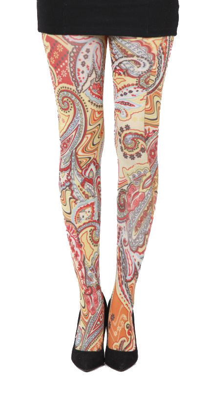 Paisley Riot psychedelic swirls Printed Tights by Pamela Mann UK on Tights Etc South Africa
