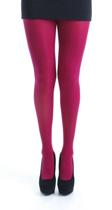 Cerise 80 Denier Tights solid colour by Pamela Mann UK on Tights Etc South Africa