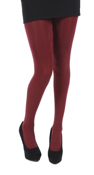 Burgandy 80 Denier Opaque Tights