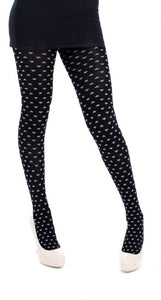 All Over Heart Winter Cotton Tights