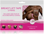 Bye Bra breast lift 3M medical tape cup D-F with Dark Silicone nipple covers on Tights Etc South Africa