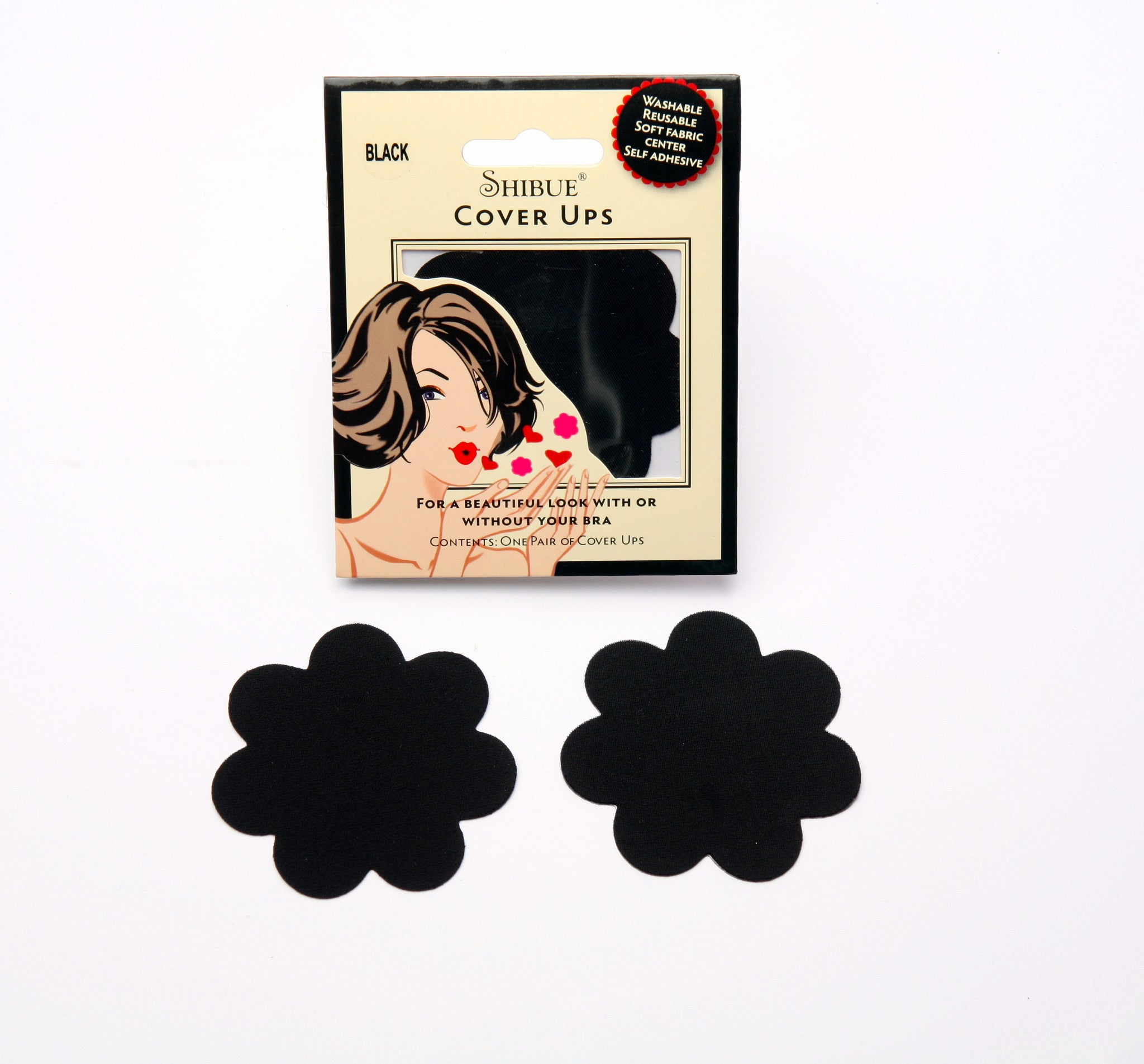 Shibue Couture Nipple Covers Classic black washable reusable only on Tights Etc South Africa