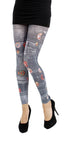 Demin Rock Jeans Printed Footless Tights by Pamela Mann UK on Tights Etc South Africa