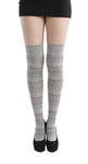 Farisle Over the Knee cotton Sock in Grey by Pamela Mann UK on Tights Etc South Africa
