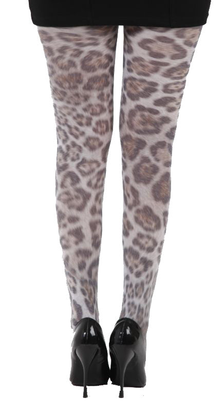 Furry Leopard Animal Print Tights by Pamela Mann UK on Tights Etc South Africa