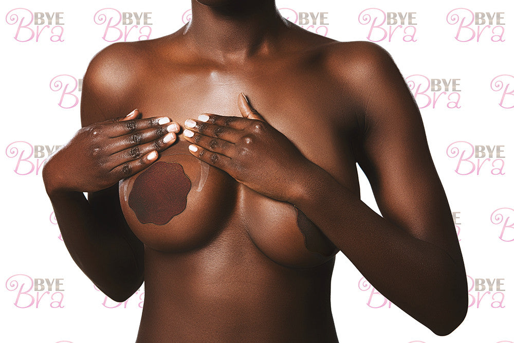 BYE BRA Dark Silicone Reusable Nipple Covers (2 Pairs) Tights Etc South Africa
