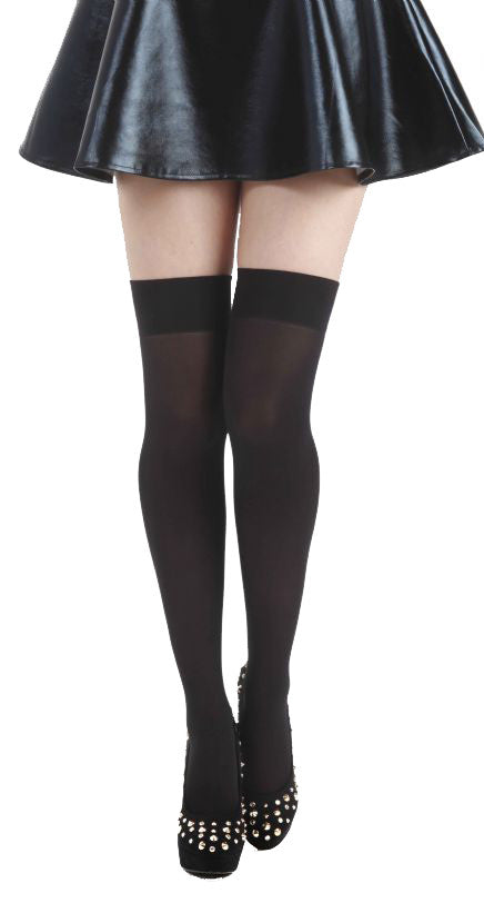 Micro Velvet 80 Denier Black Hold Ups by Pamela Mann uk only on Tights Etc South Africa
