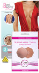 Best Breast Adhesive Lift Tape with 2 Pairs of Bye Bra NUDE Silicone Nipple Covers
