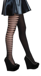 sheer tights with side slashes rock star tights by pamela mann UK on tights etc south africa