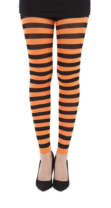 Twicker Orange bumble bee Footless Tights in black and orange stripes by Pamela Mann UK on Tights etc South Africa