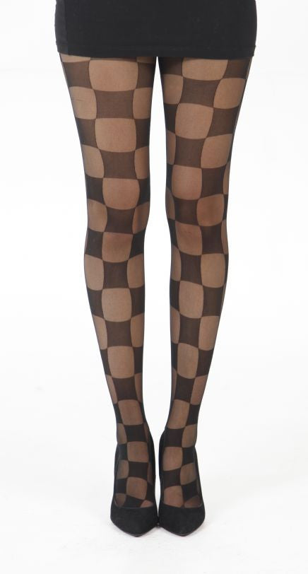 Silky Silky Movie Pattern chess board Black Sheer Tights on Tights Etc South Africa