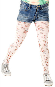 Autumn Flower Kids Printed Tights