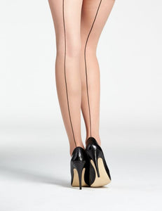 Jive backseam tights, nude tights with black back seam, classic vintage look by Pamela Mann UK on Tights Etc South Africa