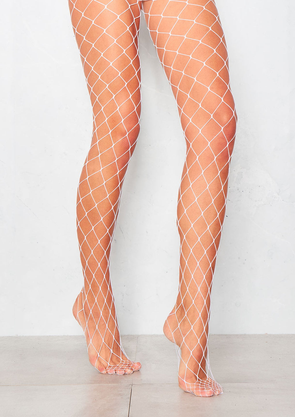 Large square White Fishnet Tights by Pamela Mann UK on Tights Etc South Africa