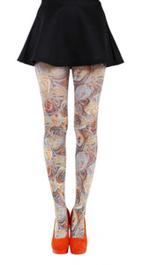 Market Printed Tights colourful scattered pattern on tights by Pamela Mann UK on Tights Etc South Africa