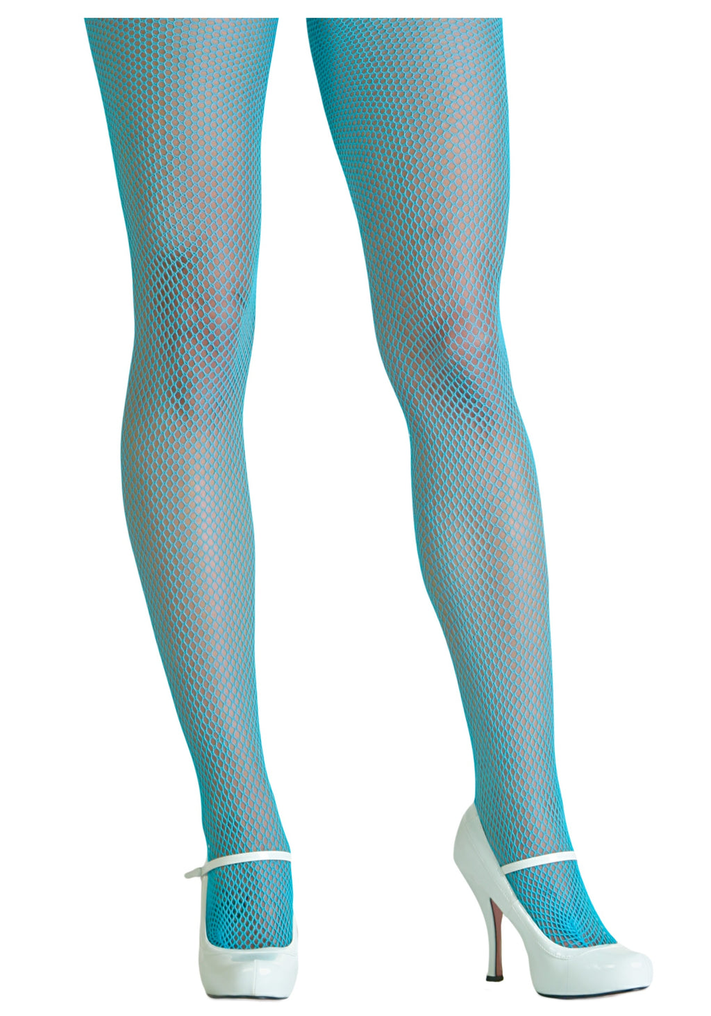Turquoise Fishnet tights, net tights, halloween tights, by Pamela Mann Uk on Tights Etc South Africa