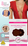 Best Breast Adhesive Lift Tape + 2 Pairs of Bye Bra DARK Silicone Nipple Covers on tights etc south africa