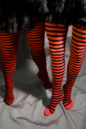 Twicker Red bumble bee Tights in black and red stripes by Pamela Mann UK on Tights etc South Africa
