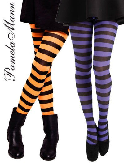 Twicker Purple bumble bee Tights in black and purple stripes by Pamela Mann UK on Tights etc South Africa