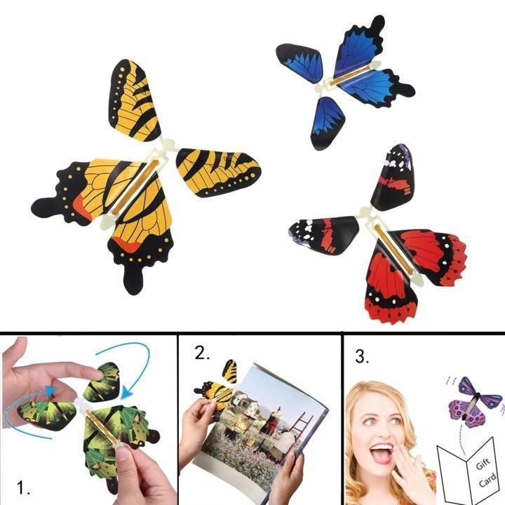 Magic Butterfly Flying Card Toy