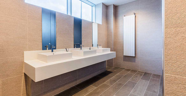Commercial office bathroom