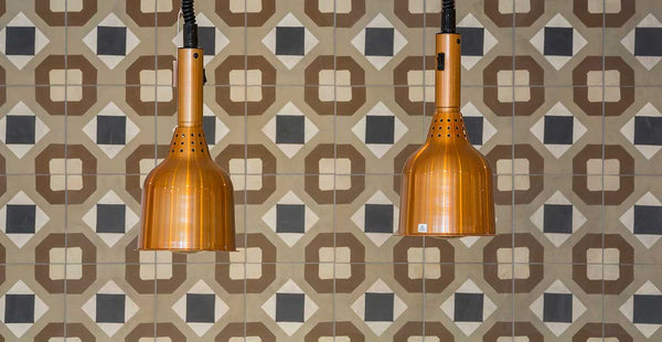 Quirky patterned tiles