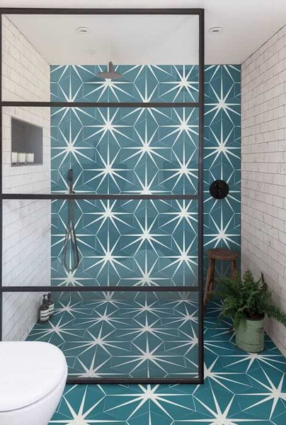peacock lily pad tiles