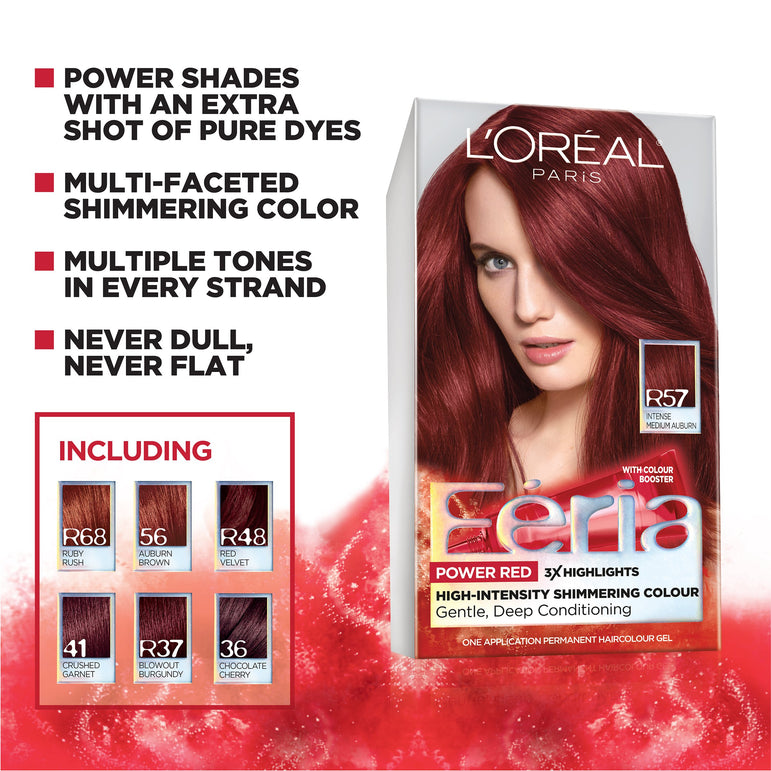 L'Oreal Paris Feria Multi-Faceted Shimmering Permanent Hair Color, 36 Chocolate Cherry (Deep Burgundy Brown), 1 kit-CaribOnline