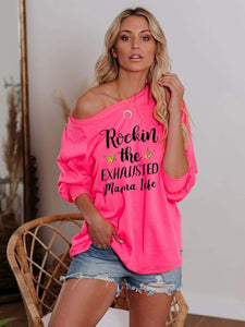 Rockin' The Exhausted Mama Life Classic Top