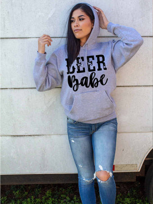 Beer Babe Hoodie With Pocket