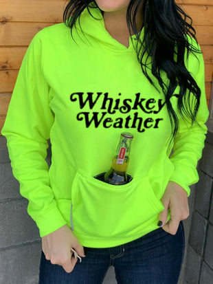 Women's Whiskey Weather Drinking Hoodie