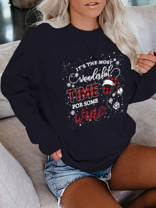 Women's It's The Most Wonderful Time For Some Wine Sweatshirt
