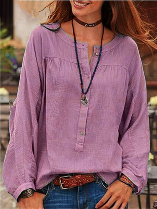 Vintage Button Down Long Sleeve Blouse