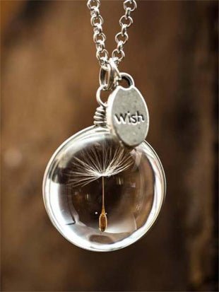 Dandelion Time Gem Necklace