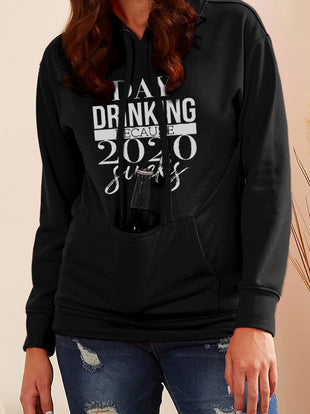 Day Drinking Because 2020 Sucks Long Sleeve Hoodies
