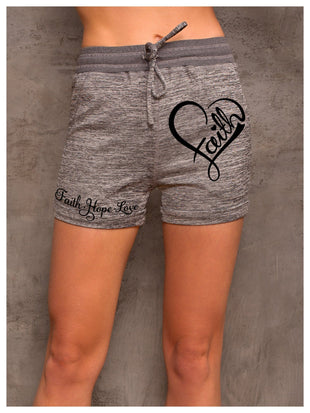 Women's Faith Hope Love Casual Shorts