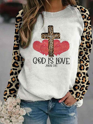Women's GOD IS LOVE Print Sweatshirt