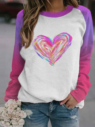 Women's Valentine's Day Love Print Sweatshirt