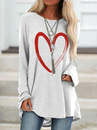 Women's Love Print Long T-shirt