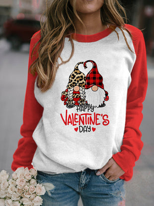 Happy Valentine's Day Gnomes Print Pullover